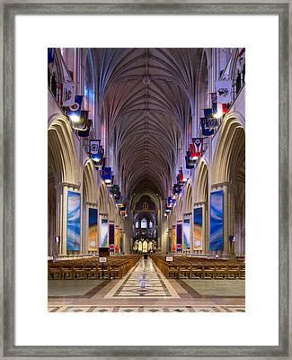 Washington National Cathedral - Washington Dc Framed Print by Brendan Reals