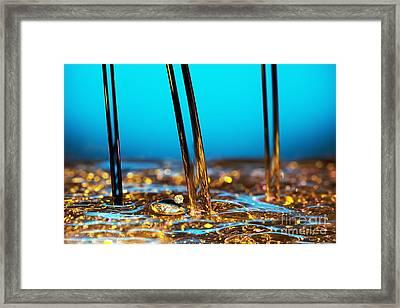 Water And Oil Framed Print by Setsiri Silapasuwanchai