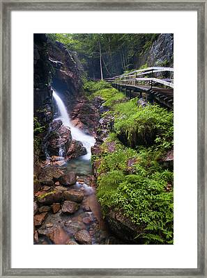 Waterfall  Framed Print by Sebastian Musial