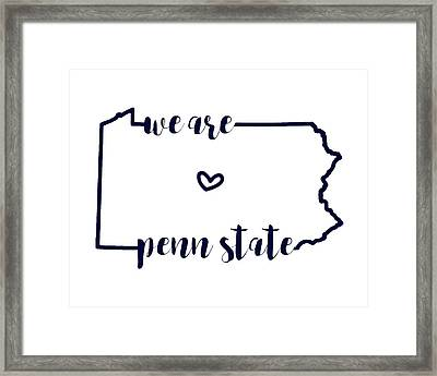 We Are Penn State Framed Print by Michelle Eshleman