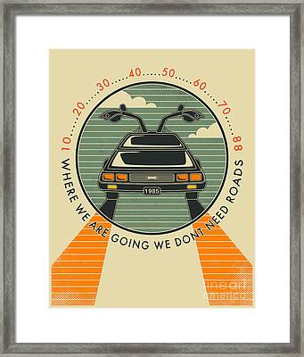 We Dont Need Roads Framed Print by Jazzberry Blue