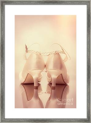 Wedding Sandals Framed Print by Amanda And Christopher Elwell