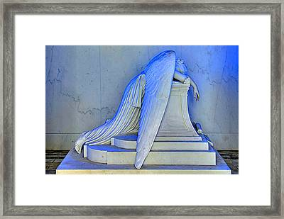 Weeping Angel Framed Print by Ellis C Baldwin
