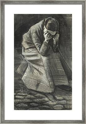 Weeping Woman Framed Print by Vincent Van Gogh