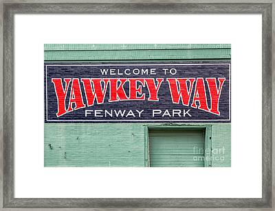 Welcome To Yawkey Way Framed Print by Dawna  Moore Photography
