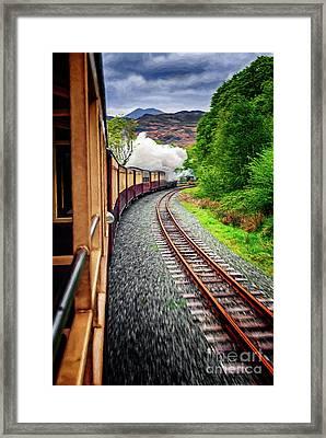 Welsh Highland Railway  Framed Print by Adrian Evans
