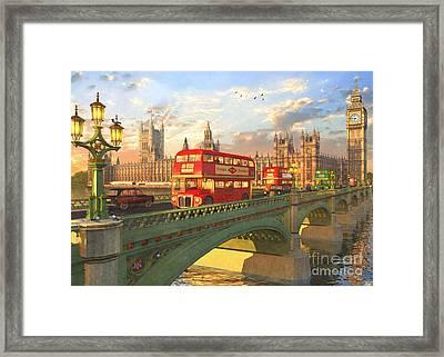 Westminster Bridge Framed Print by Dominic Davison