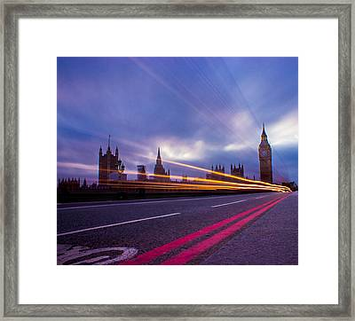 Westminster Bridge Framed Print by Martin Newman