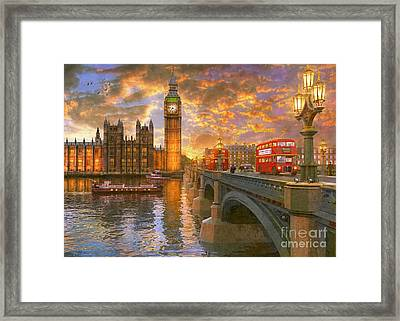 Westminster Sunset Framed Print by Dominic Davison