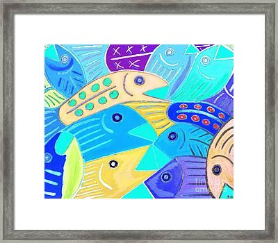 Whimsical Colorful Fish Framed Print by Scott D Van Osdol