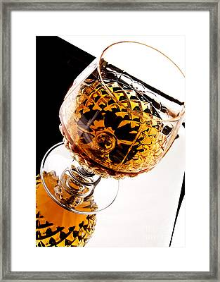 Whiskey In Glass Framed Print by Blink Images