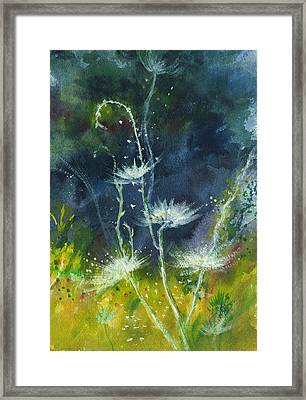 White Flowers 2 Framed Print by Anil Nene