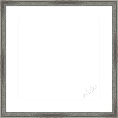 White Square Framed Print by Valeriy Mavlo