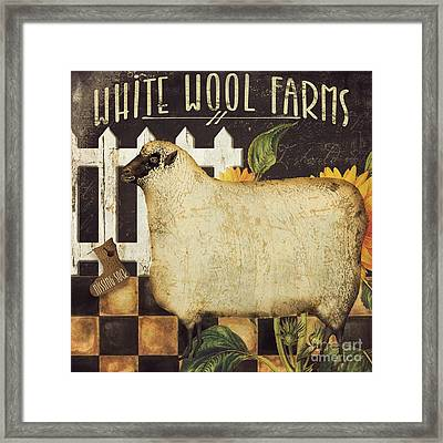 White Wool Farms Framed Print by Mindy Sommers