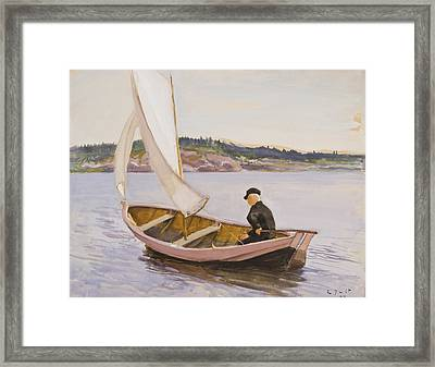 Wind In The Sails Framed Print by Eero Jarnefelt