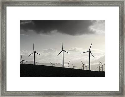 Wind Turbines Framed Print by Chris Knapton