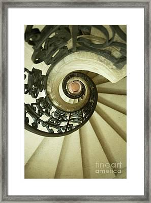 Winding Staircase. France. Europe. Framed Print by Bernard Jaubert