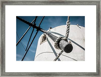 Windmill Framed Print by Carlos Caetano