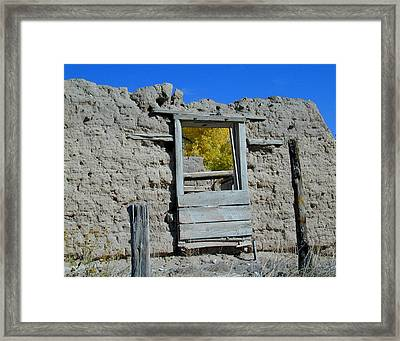 Window In Autumn Framed Print by Joseph R Luciano