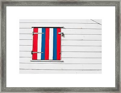 Window Shutter Framed Print by Tom Gowanlock
