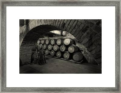 Wine Barrels Framed Print by Mountain Dreams