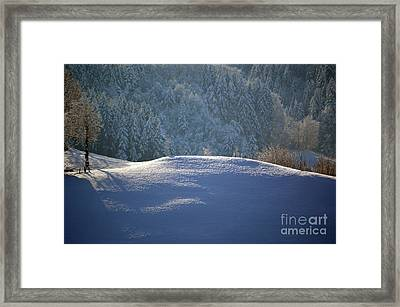 Winter In Switzerland - Snowy Hills Framed Print by Susanne Van Hulst