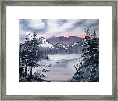 Winter In Three Colors Framed Print by Larry Hamilton