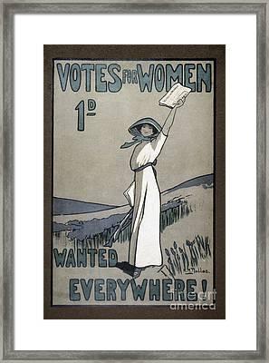 Womens Rights Framed Print by Granger