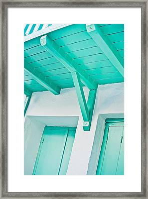 Wooden Balcony Framed Print by Tom Gowanlock