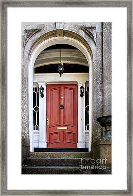 Wooden Door Savannah Framed Print by Thomas Marchessault