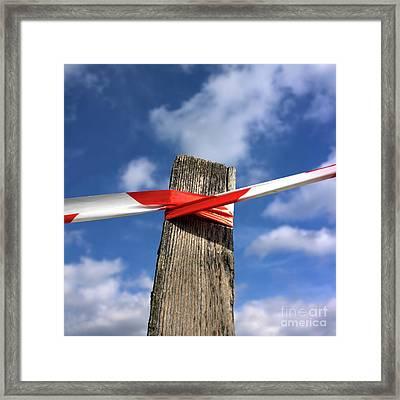 Wooden Post Framed Print by Bernard Jaubert