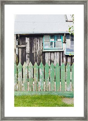 Wooden Shed Framed Print by Tom Gowanlock