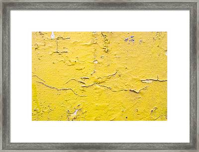 Yellow Wall Framed Print by Tom Gowanlock