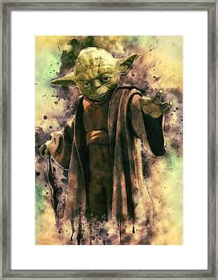 Yoda Framed Print by Taylan Soyturk