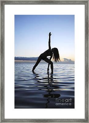 Yoga On The Coastline Framed Print by Brandon Tabiolo - Printscapes