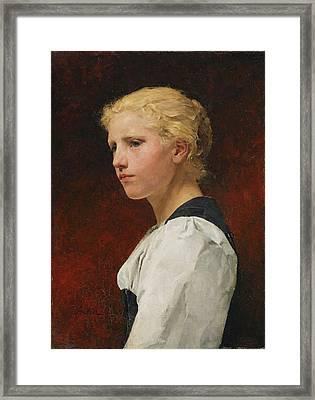 Young Girl Framed Print by Albert Samuel