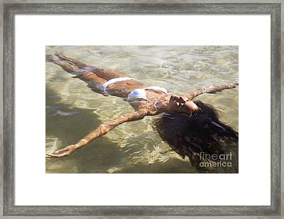 Young Woman In The Water Framed Print by Brandon Tabiolo - Printscapes