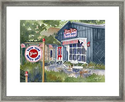 Yum Yum Framed Print by Marsha Elliott
