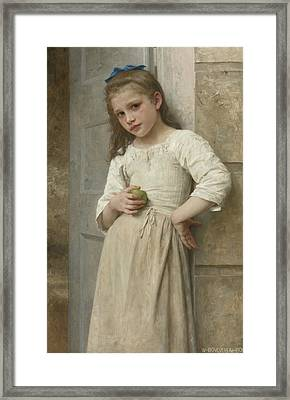 Yvonne On The Doorstep Framed Print by William-Adolphe Bouguereau