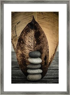 Zen Stones II Framed Print by Marco Oliveira