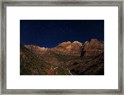 Zion Under The Stars Framed Print by Andrew Soundarajan