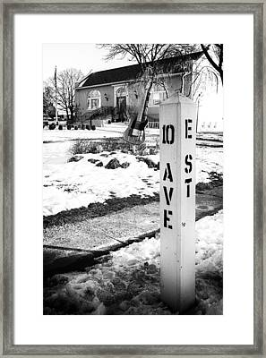 10 Ave And E St Belmar New Jersey Framed Print by Terry DeLuco