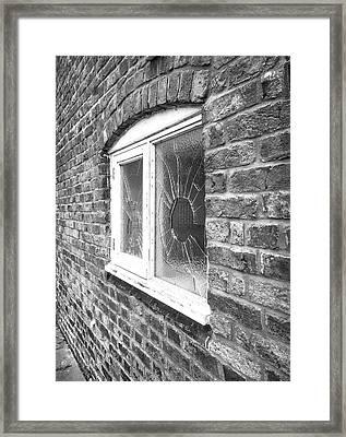 Broken Window Framed Print by Tom Gowanlock