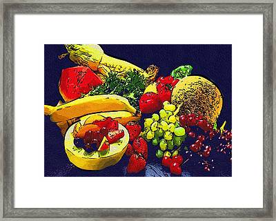 Coloring Food Picture Framed Print by Michael Vicin