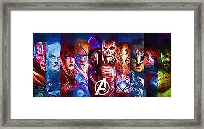 comics Superhero Framed Print by Egor Vysockiy