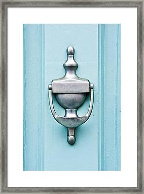 Door Knocker Framed Print by Tom Gowanlock