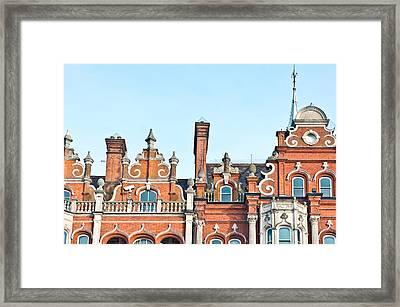Red Brick Building  Framed Print by Tom Gowanlock