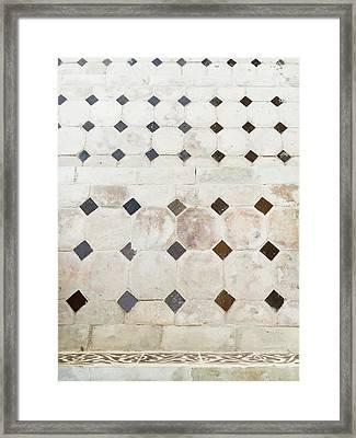 Tiled Steps Framed Print by Tom Gowanlock