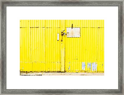 Yellow Metal  Framed Print by Tom Gowanlock