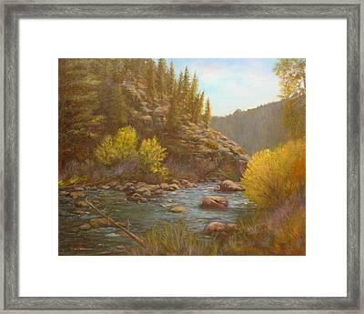 100714 2430 Serenity Framed Print by Donna Heikes